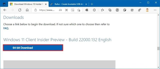 Windows 11 Insider Preview ISO download