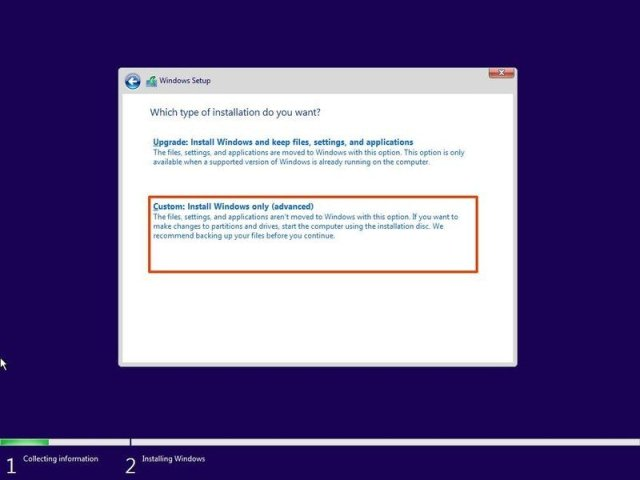 Windows 11 Insider Preview Clean Install Option