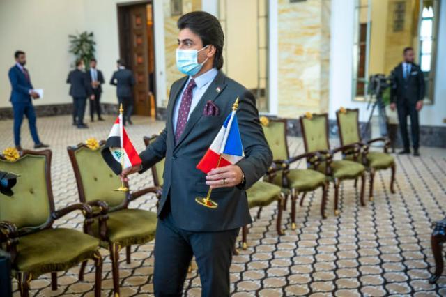 Rencontre à la Primature, siège du gouvernement irakien, à Bagdad, le 28 août 2021.