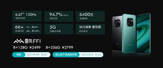 Thunderbird FF1 is TCL sub-brand FFALCON's first phone