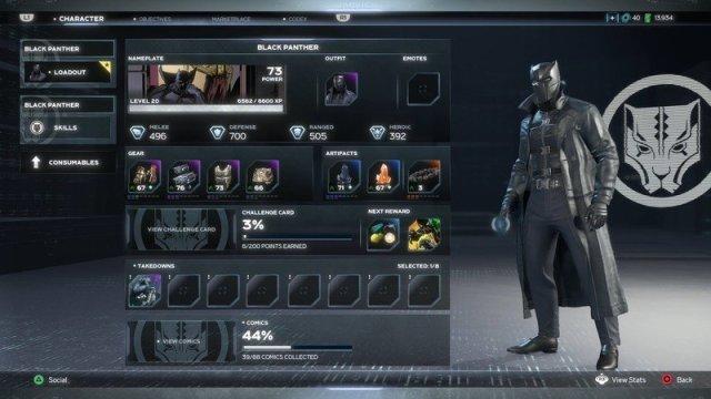 Avengers Black Panther loadout
