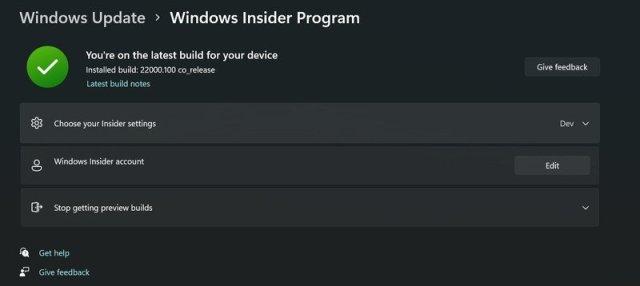 Windows 11 Insider Beta Fixed