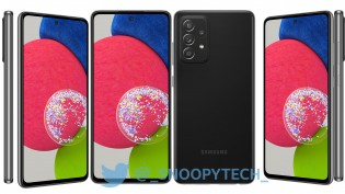 Samsung Galaxy A52s 5G in Awesome Mint and Awesome Black