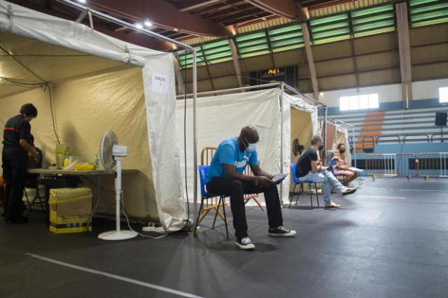 Un centre de vaccination en Martinique, le 13 août.