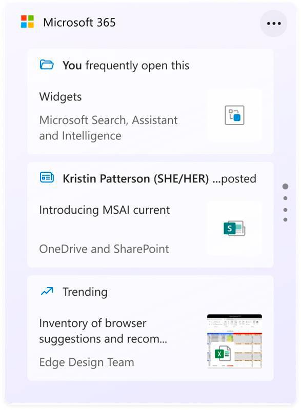 Windows 11 et le Widget Microsoft 365