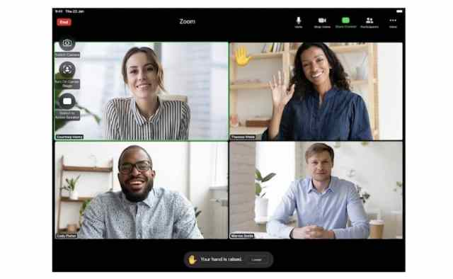 Zoom iPad, reconnaissance gestes