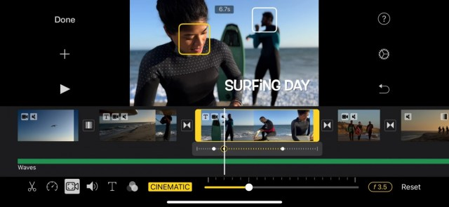 Adding rack focus to a Cinematic Mode video in iMovie in iMovie