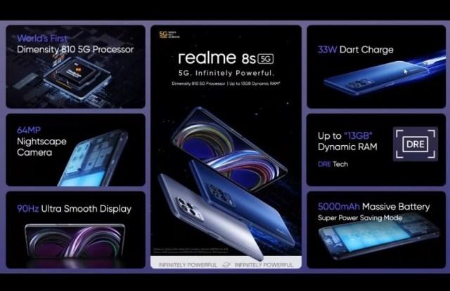 Realme 8s 5G and Realme 8i arrive with big 5,000 mAh batteries