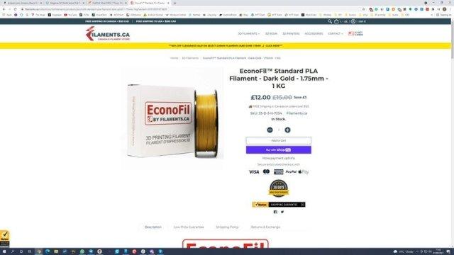 Filaments.ca Econofil PLA