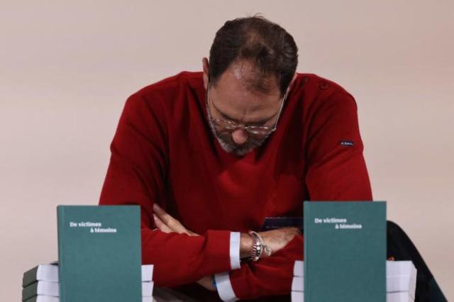 François Devaux, fondateur de l'association de victimes La parole libérée, assiste à la publication du rapport de la commission indépendante sur les abus sexuels dans l'Eglise catholique(Ciase), le 5 octobre, à Paris.