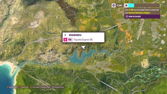 Forza Horizon 5 Map Screenshot