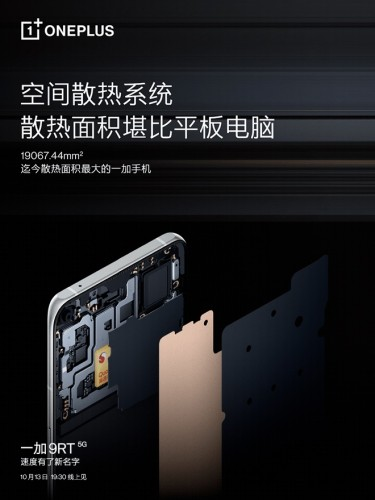 OnePlus 9RT cooling system (image: Weibo)