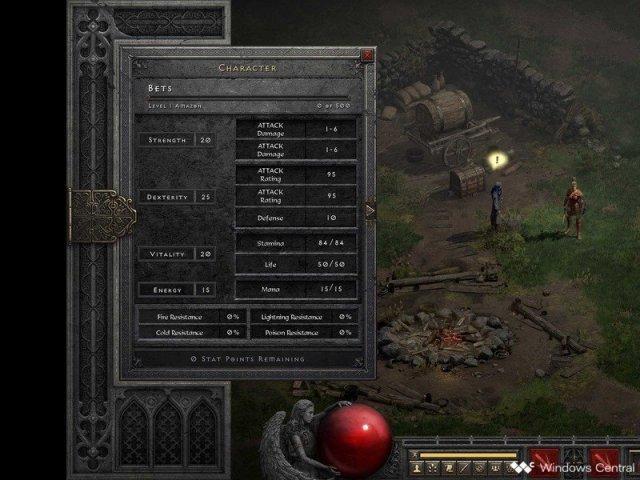 Diablo 2 Resurrected Amazon Stats