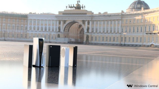 Xbox Series X, Series S, PlayStation 5 size comparison