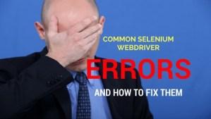 common selenium errors