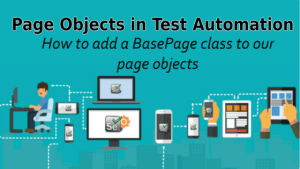 How to add a BasePage class to our page objects