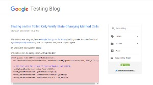 selenium webdriver resources -blogs -google testing blog