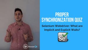 proper synchronization quiz in selenium webdriver implicit and explicit wait course