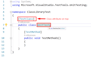 Class attribute on top of visual studio project