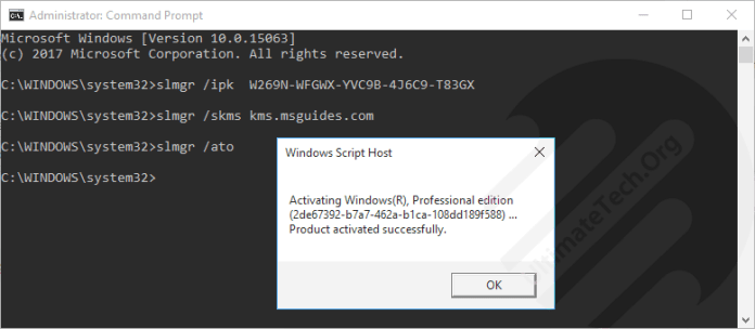 windows 10 enterprise key activation 2018