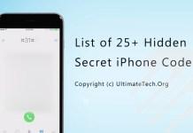 List of all Hidden Secret iPhone Codes
