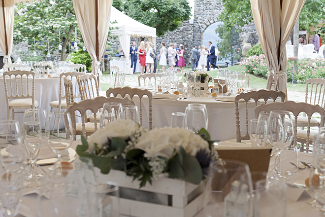 Marquee wedding in Italy