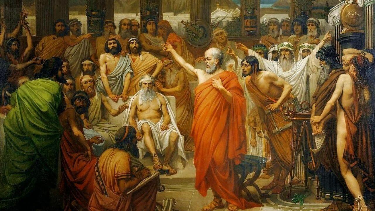 Parresia è la modalità per eccellenza del discorso socratico, che agli Ateniesi non teme di dire la verità, senza temere le conseguenze.