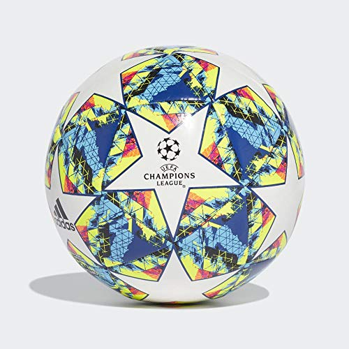 Adidas Finale 19 CPT Pallone da Calcio Uomo TopWhiteBright Cyan YellowShock Pink BottomCollegiate RoyalBlackSolar Orange 5