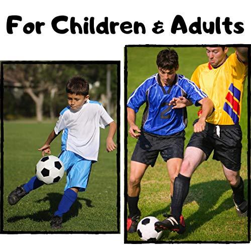 CybGene Parastinchi Calcio per Uomo Bambino Ragazzo Equipaggiamento da Calcio per Bambini Adolescente Adulto con Protezione delle Maniche alla Caviglia Giallo M