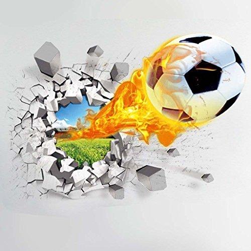 fablcrew Adesivi da Parete Adesivo Decorazione Di Calcio 3d