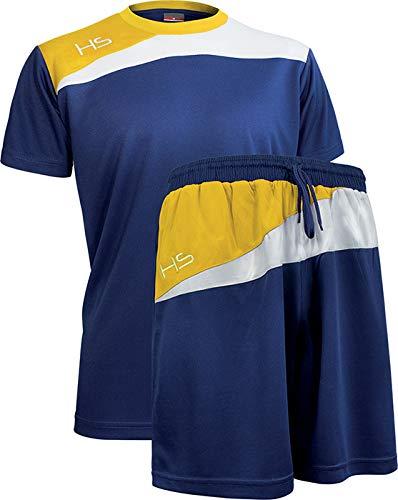 HS M11 Fairplay Kit Calcio Unisex  Adulto Blu NavyBiancoGiallo L
