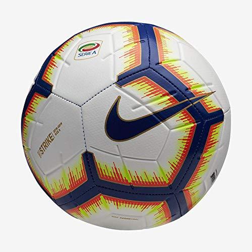 Nike Pallone Strike Serie A Calcio Unisex Adulto BiancoBright MangoRoyal BlueRoyal Blue 5