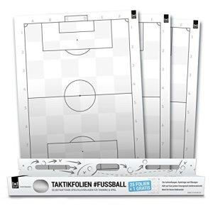 1x1Sport fogli autoadesivi per elaborare tattiche formazioni azioni ed esercizi da calcio con motivo a campo da calcio Classic wei