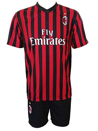 3R SPORT SRL Completo Ibrahimovic Milan Ufficiale 201920 Bambino Uomo Adulto Zlatan Maglia  Pantaloncini Pantaloncino Completino 21 Home 8 Anni