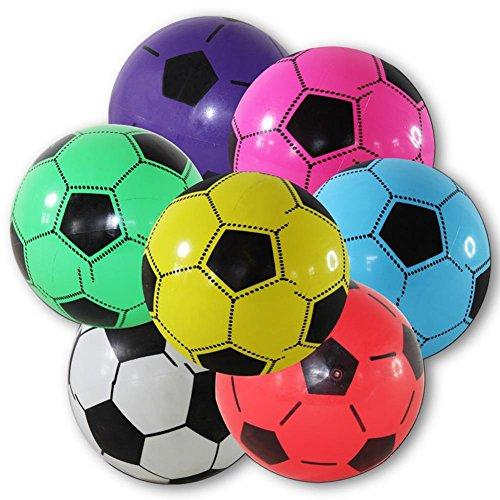 4 palloni da calcio in plastica 20 cm