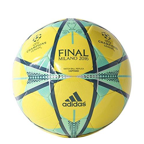 Adidas  Pallone Da Calcio Champions League Finale Milano 2016 Capitano Giallo Grandezza 4