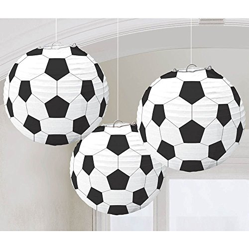 amscan  Lanterne di Carta a Forma di palloni da Calcio