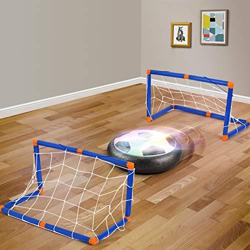 amzdeal Air Football Kit 1 x Hover Ball  1 Mini Soccer 2 Goal di Calcio 1 Gas NeedleHover Ball Gioco Indoor  Outdoor 2 Goal