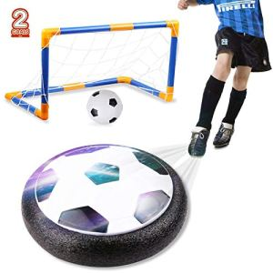 amzdeal Air Football Kit 1 x Hover Ball  1 Mini Soccer 2 Goal di Calcio 1 Gas NeedleHover Ball Gioco Indoor  Outdoor 2 Goal