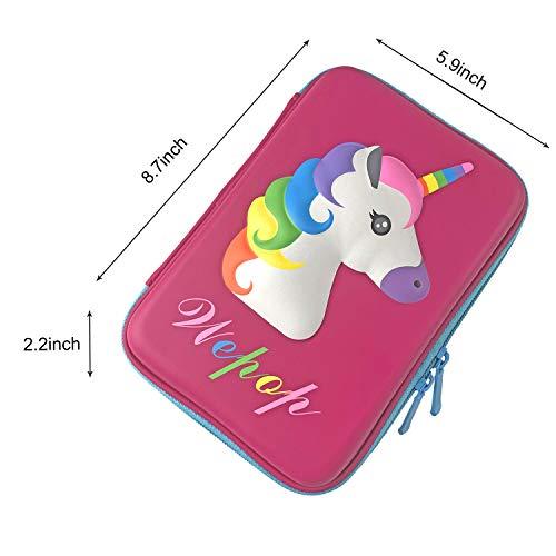 Astuccio Unicorno EVA Pastello Scatola di Cancelleria Anti shock Grande capacit Multiscomparto per la Scuola Studenti Ragazze Adolescenti Bambini Unicorno1rosa