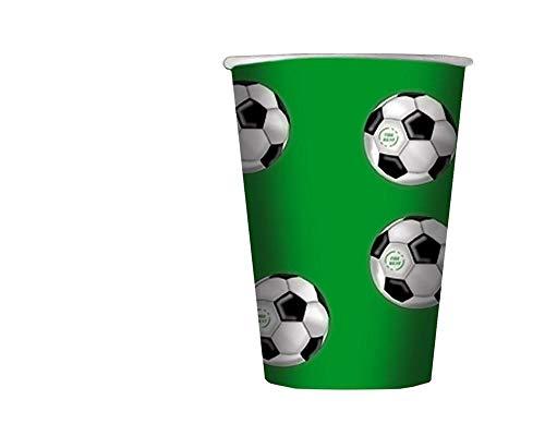 Big Party Bicchieri Calcio Colore VerdeBiancoNero 200 mL 13282