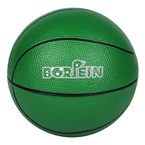 BORPEIN Palla da Basket Morbida da 178 cm Senza Bisogno di Pompa in Schiuma con Borsa a Rete Perfetta per Giocare e Fare Esercizio ai Bambini Verde