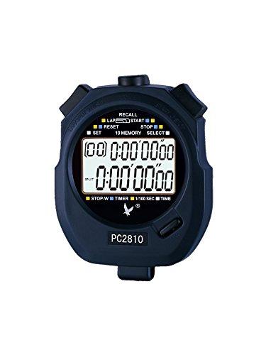 Cronometro Digitale Sportivo su 2 Righe in Grado di memorizzare Fino a 10 Tempi con Conto alla rovescia e Sveglia