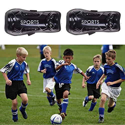 Deuxff parastinchi da calcio 1 paio di calzini per bambini e giovani per giochi di calcio attrezzature per bambini da 3 a 10 anni ragazzi e ragazze Nero
