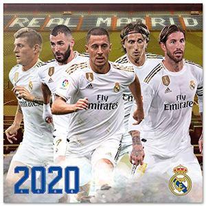 ERIK  Calendario annuale 2020 da Muro Ideale per casa o Ufficio 30x30 cm  Real Madrid