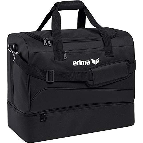erima Sporttasche mit Bodenfach Borsone 50 cm 56 liters Nero Schwarz