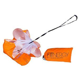F1TNERGY Paracadute di Resistenza in Formazione Scivolo Sprint Allenamento Veloce Alta qualit 142cm Borsa Gratuita Massima velocit accelerazione esplosiva Calcio Rope Kid Esercizio Adulti
