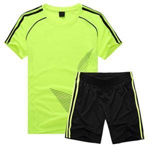 Inlefen Uniforme da Calcio Set Bambino Manica Corta Maglia e Pantaloncini Ragazzi Ragazze Abbigliamento da Allenamento