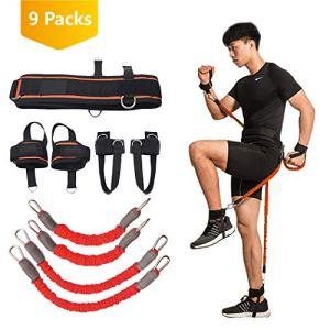 ITRAZ  Fascia di resistenza per boxe boxe crossfit allenamento per gambe forza e agilit per calcio basket pallavolo taekwondo Muay Thai Fitness