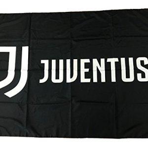 Juventus Bandiera Nera Nuovo Logo 100 Poliestere